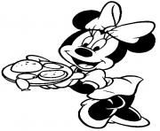 minnie offering burger disney d35e coloring pages