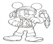 mickey as pirate disney 9968 coloring pages