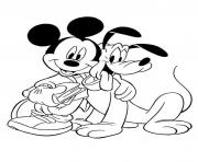 Printable mickey mouse and pluto sd011 coloring pages