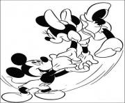 mickey dancing with minnie disney d489 coloring pages
