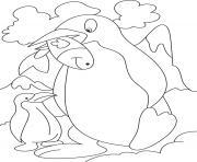 Print Penguin with fish 129c coloring pages