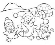 Printable cute penguin family 766d coloring pages