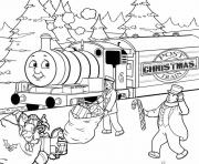 christmas thomas the train s free8351 coloring pages