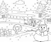 Printable thomas the train winter s for kids freeb5d4 coloring pages