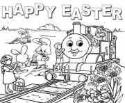 thomas the train easter sc421 coloring pages