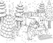 thomas the train s christmas snowb7b1 coloring pages