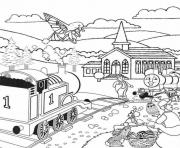 easter full page thomas the train s046a coloring pages