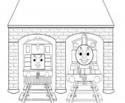 kids thomas the train s toby3e44 coloring pages