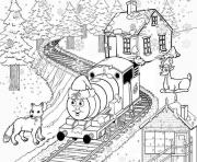 thomas the train s christmas season437e coloring pages