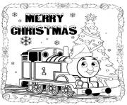 Print thomas the train merry christmas s9ef8 coloring pages