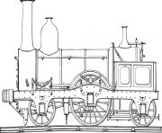Colonial Train 5b21 coloring pages