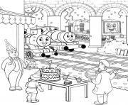 Print thomas the train s birthdayba32 coloring pages