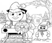 Print thomas the train s christmas day15f5 coloring pages