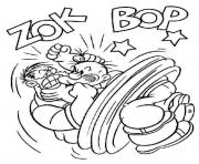popeye fighting 22c7 coloring pages