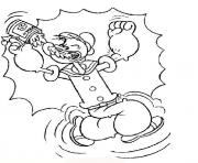 popeye turn into strong 01ed coloring pages