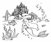 Print ariel facing her palace little mermaid s8a50 coloring pages