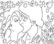 Print eric kissing ariel disney princess s5a0f coloring pages