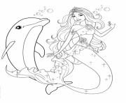 Print girls s barbie mermaid and dolphin843e coloring pages