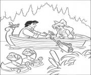 Print ariel on a date with eric disney princess sc792 coloring pages