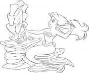 Print ariel putting make up on disney princess see33 coloring pages