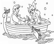 Print romantic date from eric to ariel little mermaid b3ae coloring pages