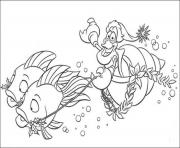 Print sebastian riding fishes little mermaid disney 054b coloring pages