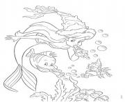 Print ariel in a party under water little mermaid s58c6 coloring pages