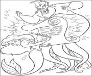 ursula coloring pages - the little mermaid coloring pages color online free printable