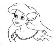 Print little mermaid disney princess sa92c coloring pages
