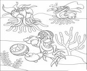 Print sebastian playing maracass little mermaid a121 coloring pages