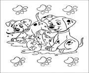 Print dalmatians painting easter eggs 5b1a coloring pages
