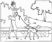 Printable anita walking dalmatian 3b03 coloring pages