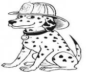 Printable dalmatian with fire man hat 7b8c coloring pages