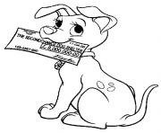 Print dalmatian with a check e48d coloring pages