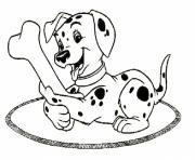 Print dalmatian and a bone 4572 coloring pages