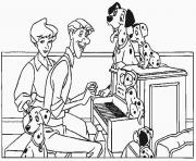 Print dalmatians singing with the owners 5f1c coloring pages