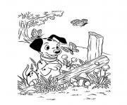Print dalmatian playing with butterfly 0d63 coloring pages