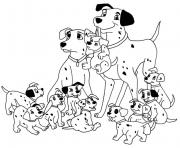 Printable dalmatians family e421 coloring pages