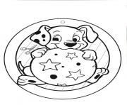 Print little dalmatian ready to play ball 1822 coloring pages