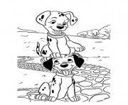 Printable two little dalmatians s free7f8e coloring pages