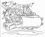 the flintstones going vacation a85c coloring pages