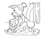 wilma taking care of pebbles 8cde coloring pages