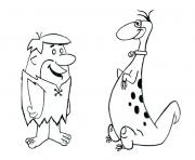 barney and dinno flintstones 915e coloring pages