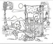 pebbles selling lemonade 3602 coloring pages