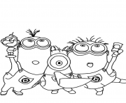 Print minions despicable me s3347 coloring pages