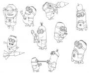 Print free despicable me s minions951a coloring pages