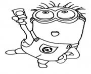 Jerry Dance The Minion Coloring Page coloring pages