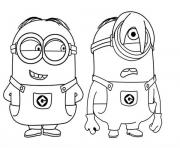 Print Phil and Stuart The Minion coloring pages