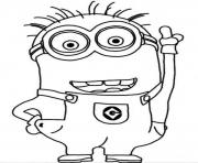 Print Crazy Dave The Minion Coloring Page coloring pages