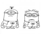 Stuart And Jerry Is Shocked The Minion Coloring Page Pages